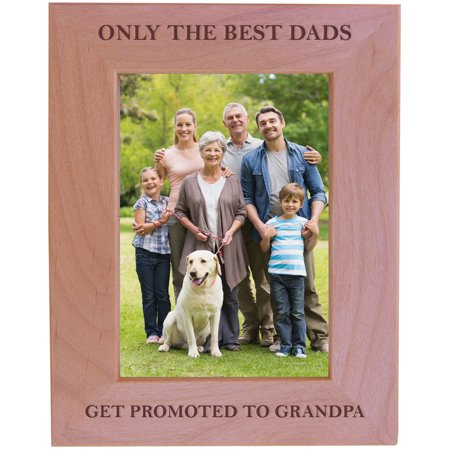 Customgiftsnow Only The Best Dads Get Promoted To Grandpa Wood