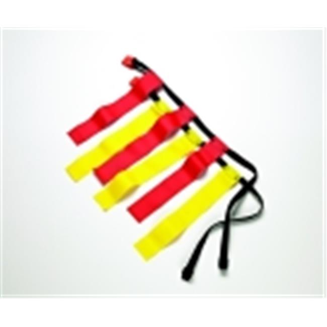 Sportime Large Flag Football Belts - Set 12, Red & Yellow