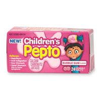 Pepto-Bismol Children Chewable Tablets, Bubble Gum Flavor - 24 Each](Flavor Flav Kids)