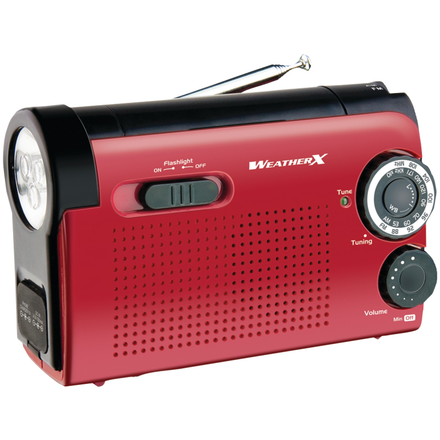 GPX AM/FM Weather Band Radio and Flashlight