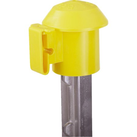 T POST TOP'R SAFETY TOP & ELECTRIC FENCE INSULATOR YELLOW 10 PACK