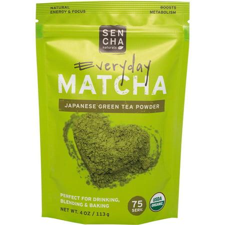 Sencha Naturals  Matcha  Green Tea Powder  Japanese Everyday Grade  4 oz  113 g
