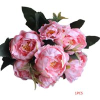 8 Heads/Bouquet Mariage Christmas Simulation Real Touch Artificial Peony Flower Valentines Day Gift Fake Flower