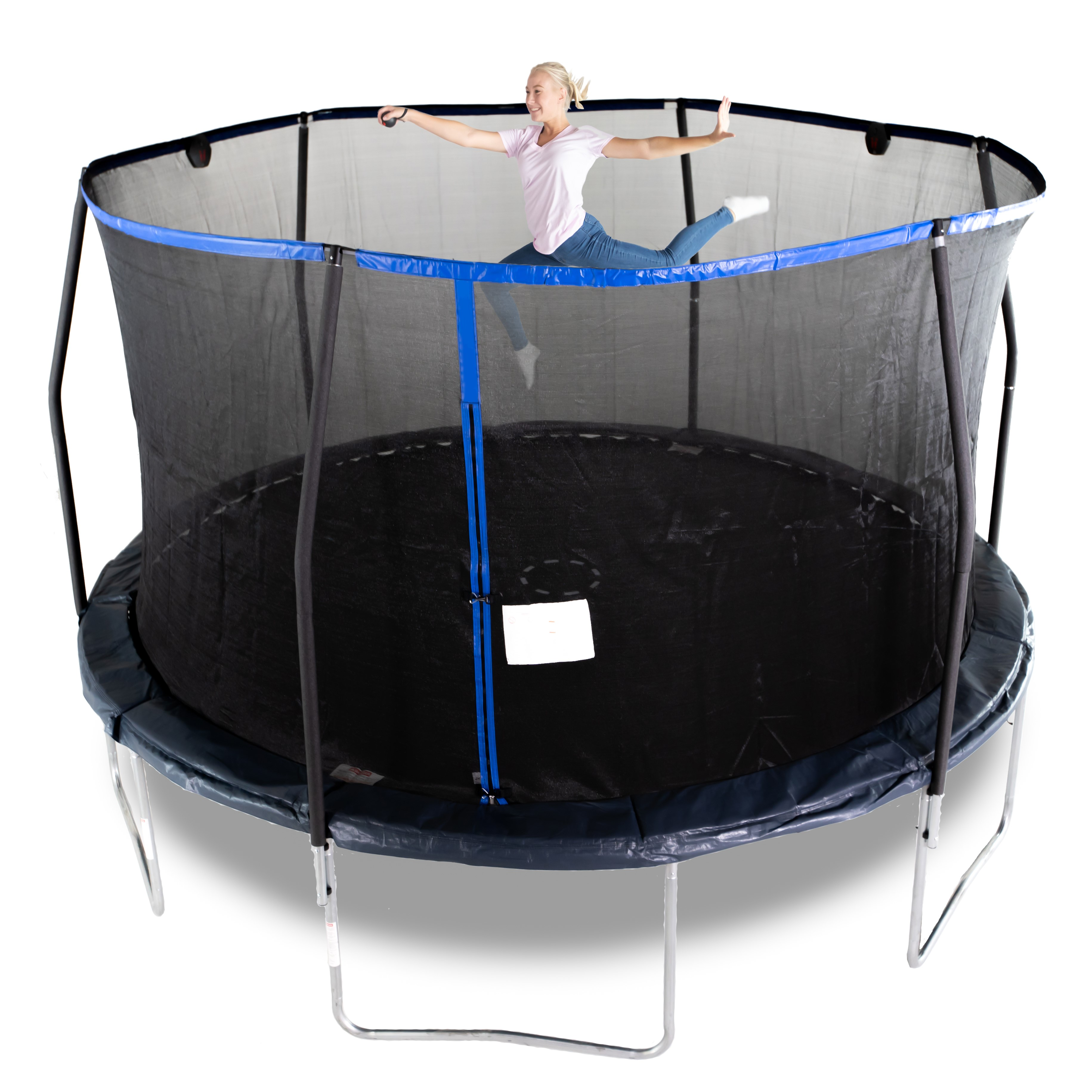 Bounce Pro 14-Foot Trampoline, Electronic Shooter Laser Game, Midnight Blue