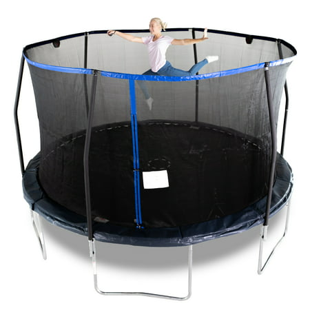 Bounce Pro 14-Foot Trampoline, Electronic Shooter Laser Game, Midnight (Bouncepro By Sportspower 15 Trampoline Weight Limit)