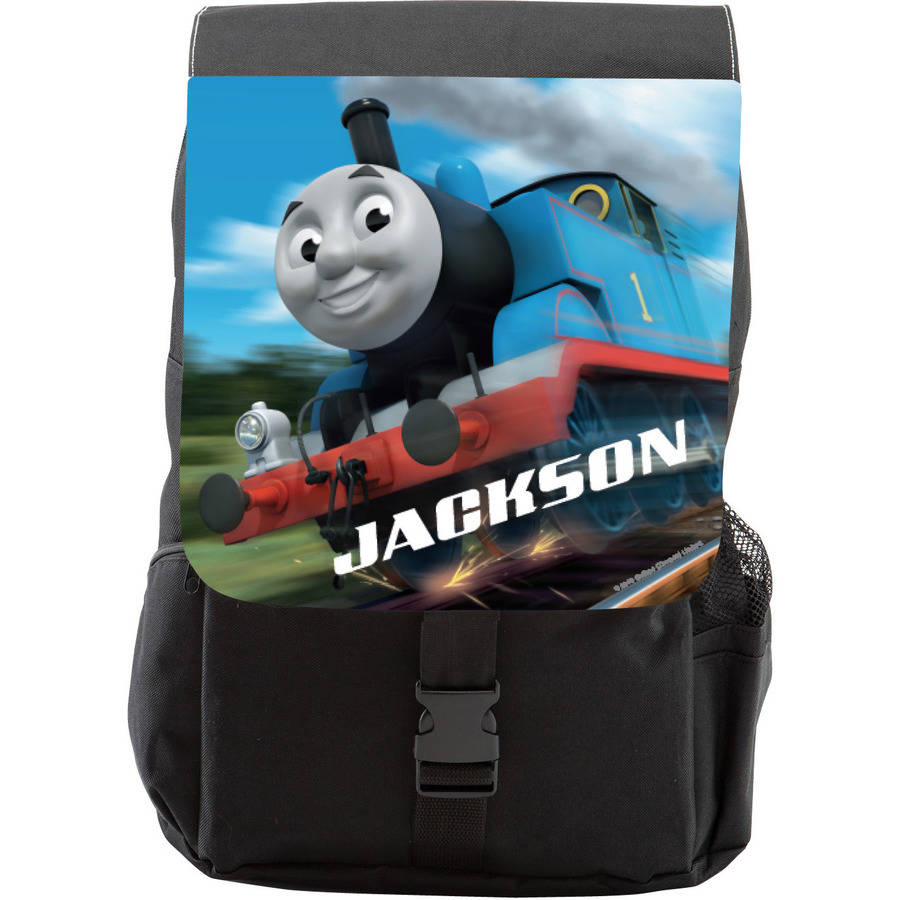 Personalized Thomas and Friends Full Steam Ahead Youth Flap Backpack