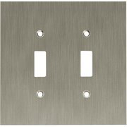 Franklin Brass Concave Double Switch Wall Plate in Satin Nickel