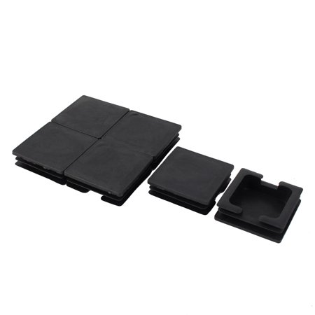Home Plastic Square Cabinet Legs Protecter Tube Insert Black 74 x 74mm 6 Pcs - image 1 of 2