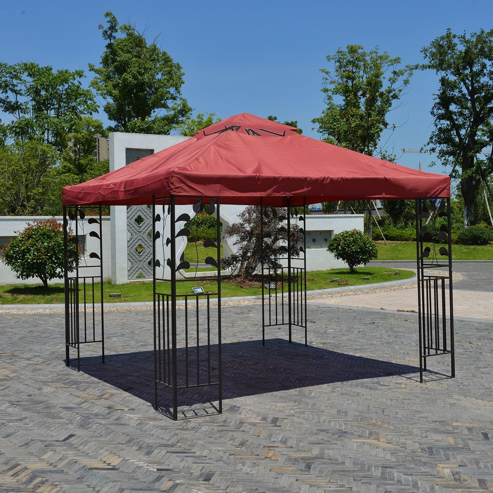 Double-Tier 10x10 Feet Gazebos and Canopies Waterproof Replacement Gazebo Top Cover Patio Canopy - Walmart.com & Double-Tier 10x10 Feet Gazebos and Canopies Waterproof Replacement ...