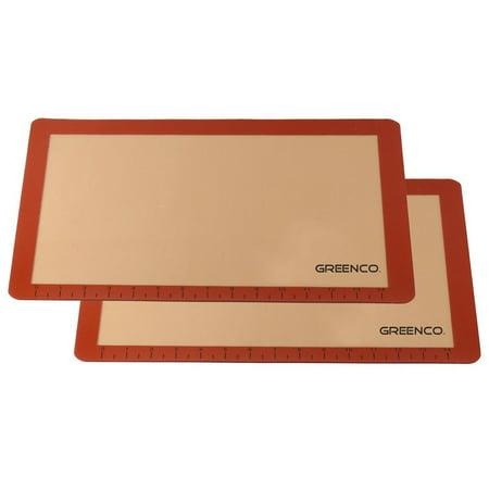 Greenco Non-Stick Silicone Baking Mat (Orange, 2 Pack)