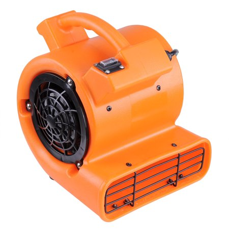 Yescom 1/12 HP 349 CFM Air Mover Carpet Dryer Floor Blower Fan for Home Office (Orange Case Fan)