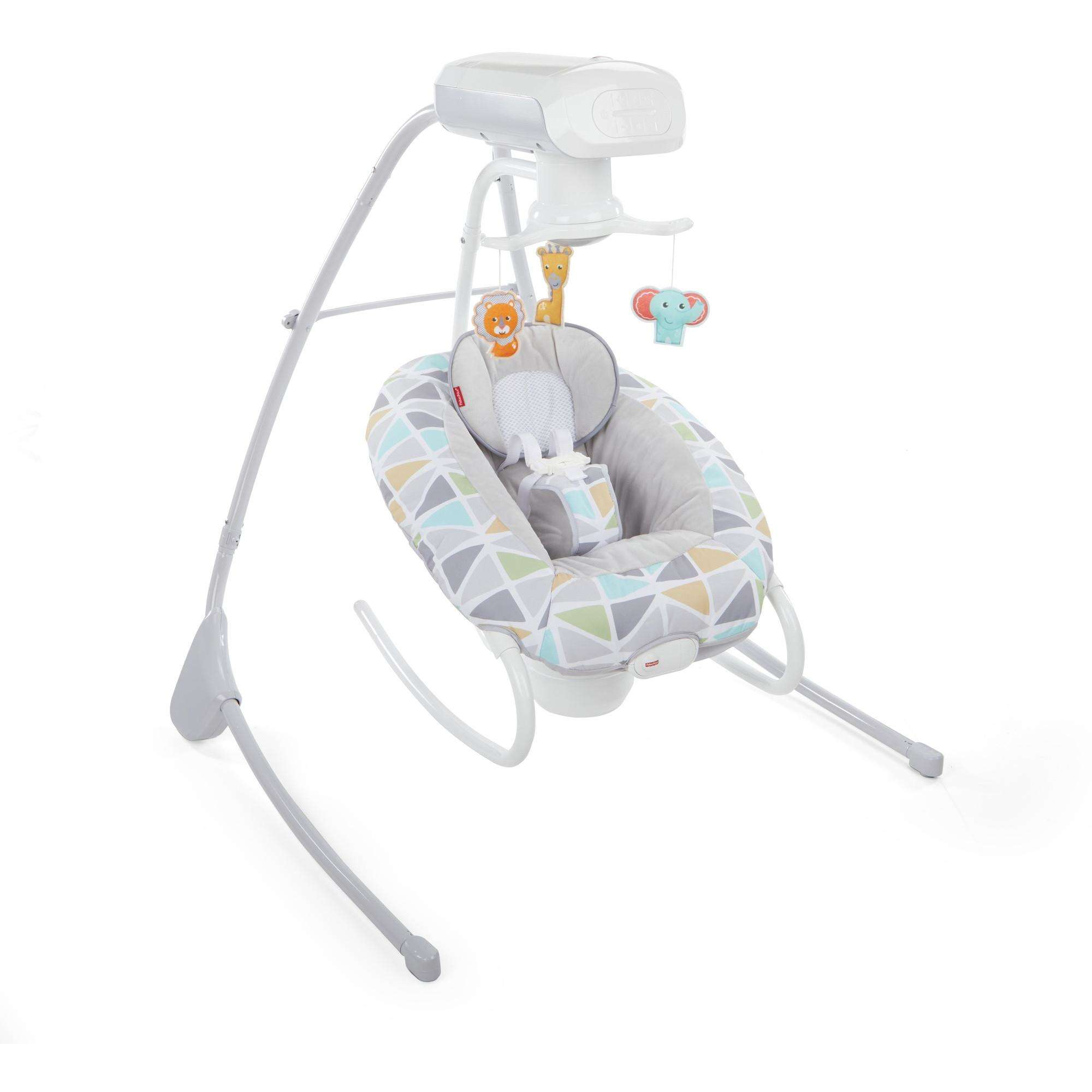 Fisher Price 2-in-1 Deluxe Cradle 'n Swing with 6-Speeds by Fisher-Price