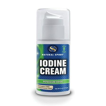 Crème d'iode (non parfumé) Natural Sport 4 oz Crème