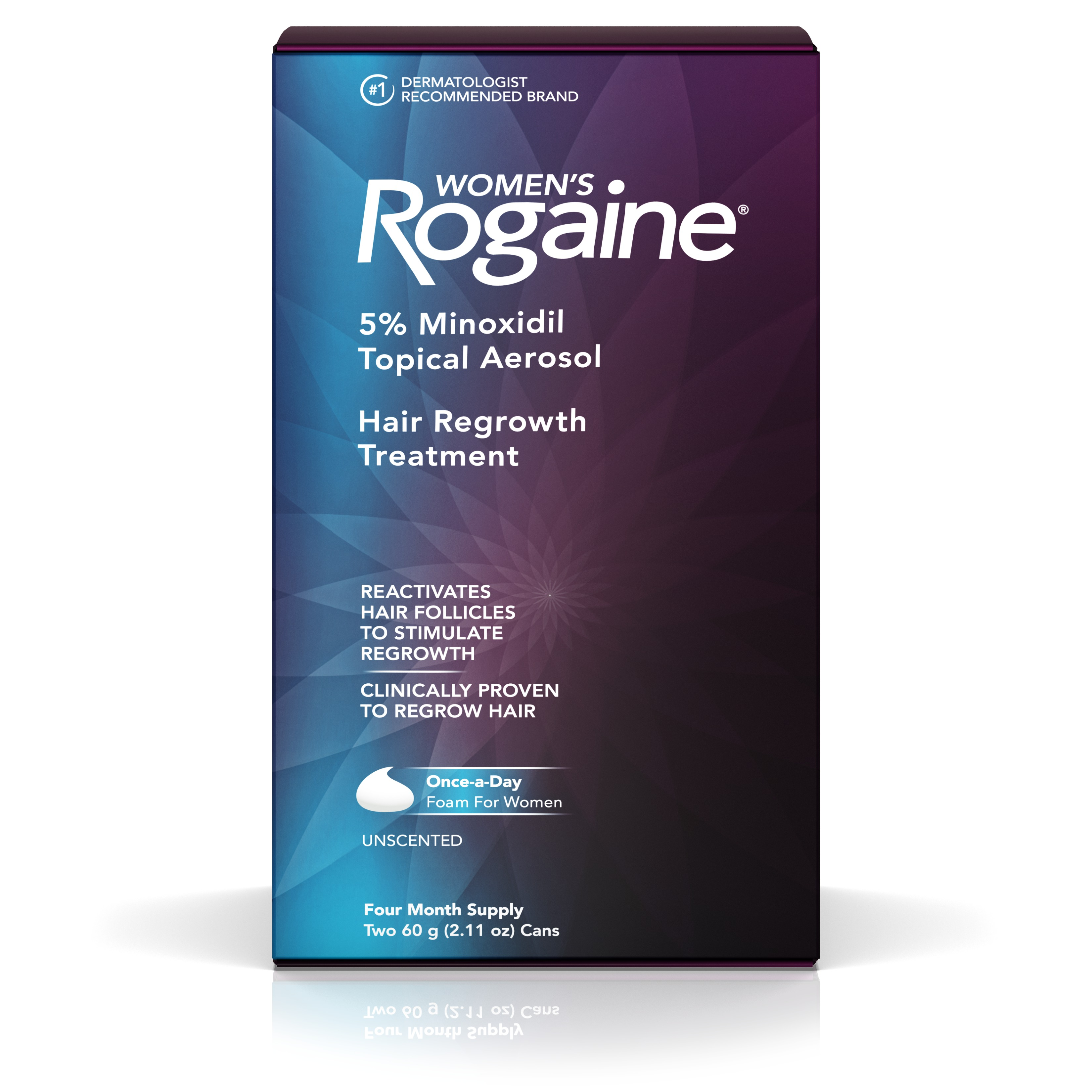 Rogaine Women's Minoxidil Hair Thinning and Loss Treatment Foam, 4 Month