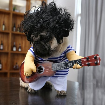 Funny Pet Guitar Clothes Dog Guitarist Dressing Costume Pet Guitar Dress - image 5 of 9
