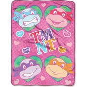 TMNT: Cowabunga Love Pink Micro Raschel Fleece Throw