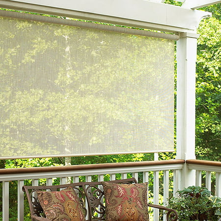 Sahara exterior roller sun shade 120 x 72 for Exterior no chain window shade