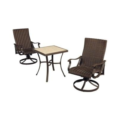 Hampton Bay Pembrey 3-Piece Patio Bistro Set