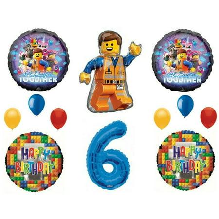 Legos 2 Movie 6th Birthday Party Balloons Decoration Supplies Sixth …](Legos Party Supplies)