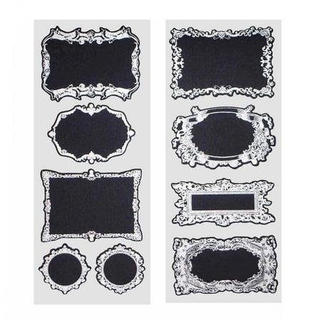 Fancy Silver Frame Chalkboard Label Stickers, 3-Inch, 2-Sheets ...