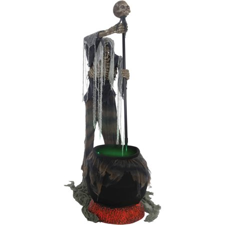 Cauldron Creeper Animated Halloween Decoration (Halloween Mantel Decor)
