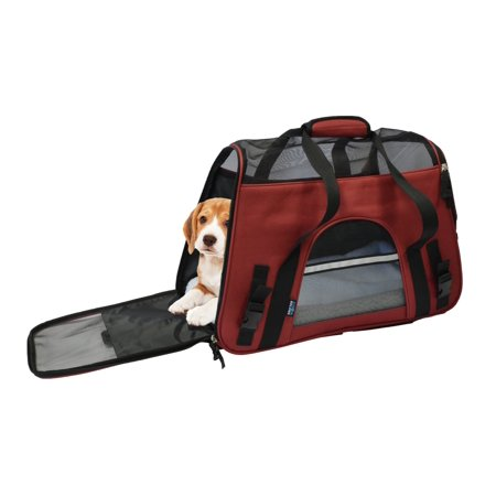 24becbda9c86 KritterWorld Comfort Airline Approved Soft Sided Pet Carrier Bag for  Dog/Cat Seat Small Animals Tote w/ Safety Belt Straps & Removable Fleece  Bed - ...