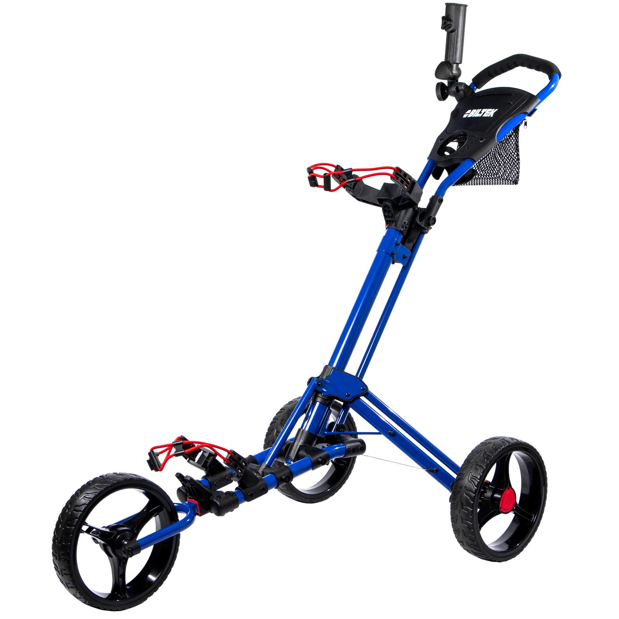 KapscoMoto Biltek Biltek Premium 3-Wheel Golf Push Cart T...