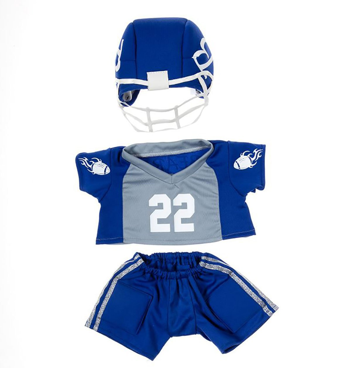 "Football Uniform Outfit Teddy Bear Clothes Fits Most 14"" 18"" Build-a-bear,... by Bear Factory"
