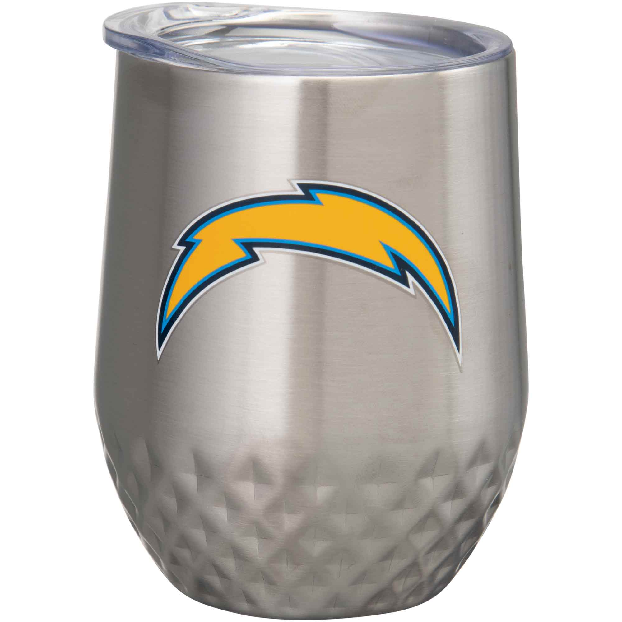 Los Angeles Chargers 12oz. Stainless Steel Stemless Diamond Tumbler - No Size