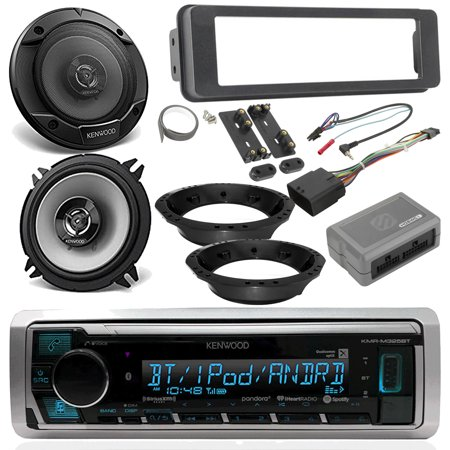1996-13 / 2006-13 Harley Davidson Package - Kenwood Digital Media Marine Stereo Radio, 2x Kenwood 6.5