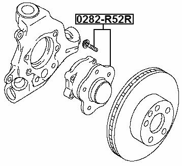 Febest 0282 R52r Rear Wheel Hub Infiniti Qx60jx L50 2012 Oem