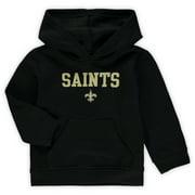 Toddler Black New Orleans Saints Team Fleece Pullover Hoodie