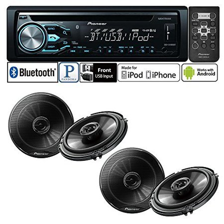 Pioneer Deh X4800bt Single Din In Dash Cd Am Fm Bluetooth Car