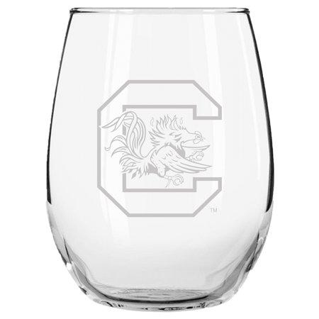 South Carolina Gamecocks 15oz. Etched Stemless Glass Tumbler - No Size