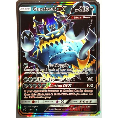 Pokemon - Crimson Invasion - Guzzlord GX 63/111, Ultra rare, New, Mint
