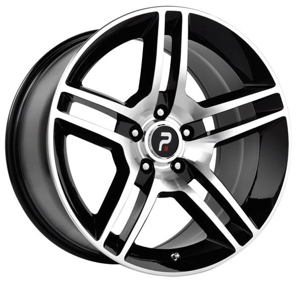 Replica 101MB Shelby GT500 18x10 5x114.3 +45mm Black/Machined Wheel Rim