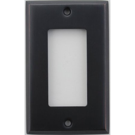 Creative Accents Wood Wall Plate - Classic Accents Oil Rubbed Bronze 1 Gang GFI/Rocker Opening Wall Plate