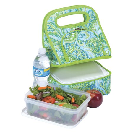 Picnic Plus Savoy Lunch Bag - Green Paisley