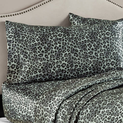 Mainstays 4 Piece Luxury Satin Sheet and Pillowcase Set