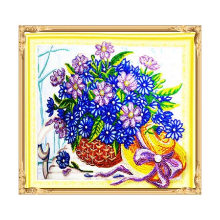 HZ010 Flower Basket Diamond Painting Embroidery Cross Kit Home Decoration - image 1 of 6
