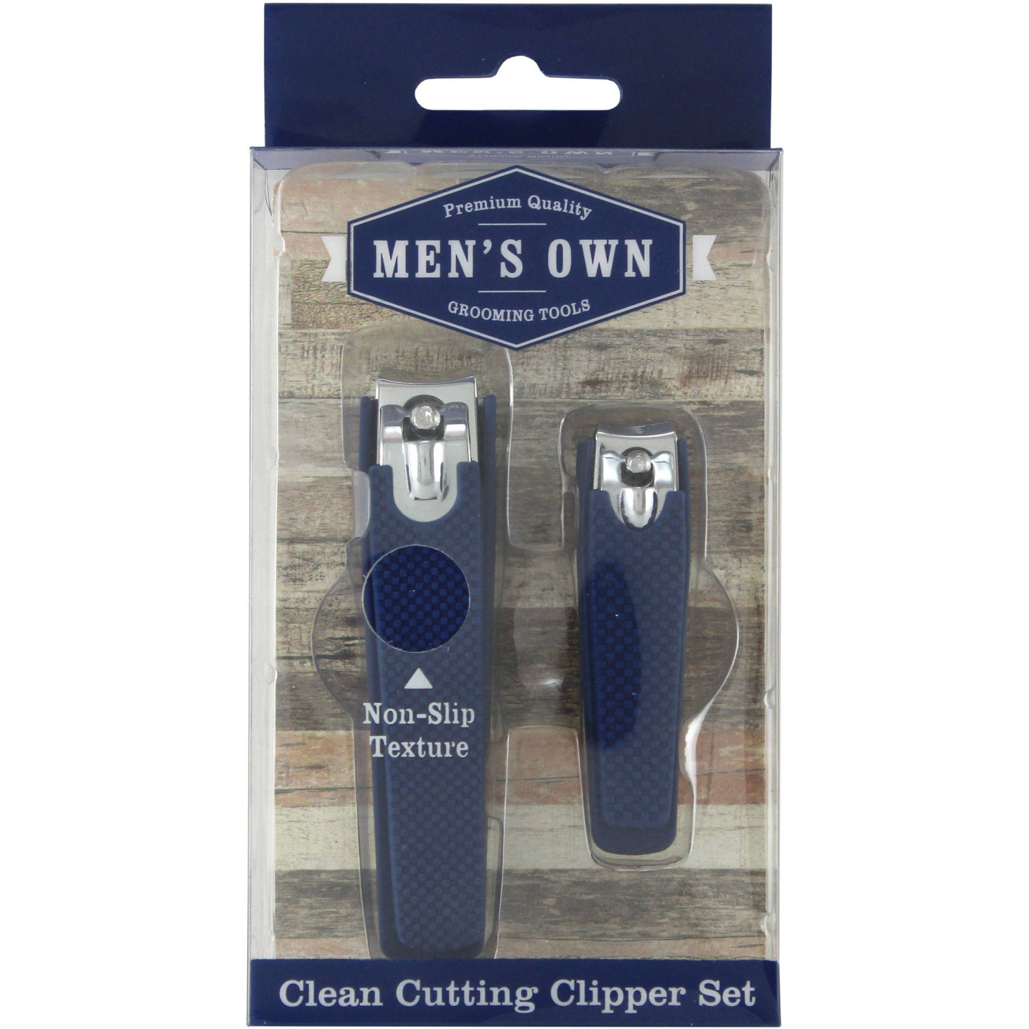 Swissco Men's 2pc Nail Clipper Set with Soft Touch Grip