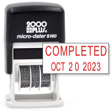 Cosco 2000 PLUS Self-Inking Rubber Date Office Stamp Phrase & Date - RED INK (Micro-Dater 160)