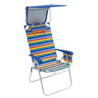 RIO Beach Hi-Boy Beach Chair with Canopy - Stripe