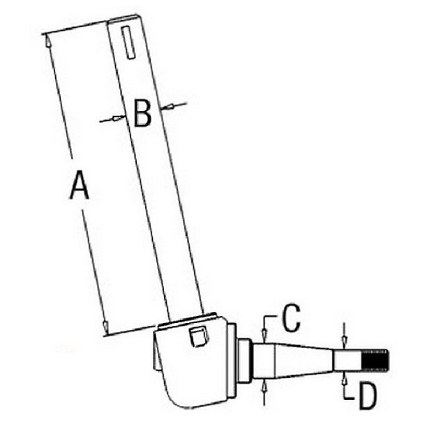 182557M92 RH Spindle Fits Massey Ferguson 40 50 65 (High