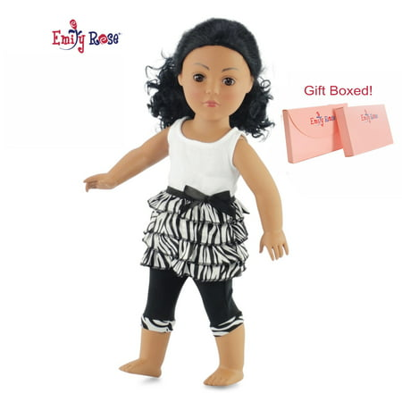 18 Inch Doll Clothes Zebra Leggings Outfit for My Life as Dolls | Emily Rose Doll Clothes for 18