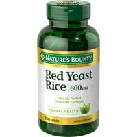Nature's Bounty Red Yeast Rice, 600mg, 250 Capsules
