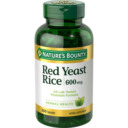 Nature's Bounty Red Yeast Rice, 600mg, 250