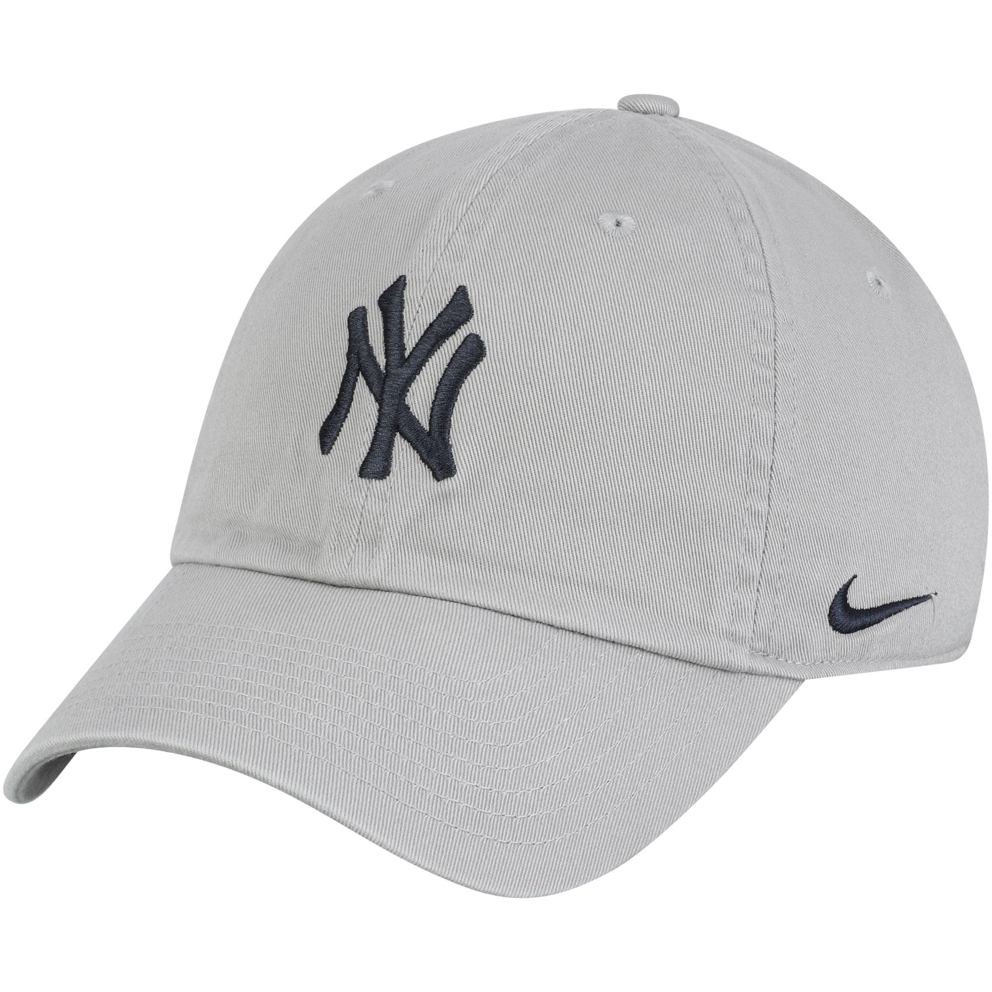 dcb8d355a65 New York Yankees Nike MLB Heritage 86 Adjustable Hat - Gray - OSFA -  Walmart.com