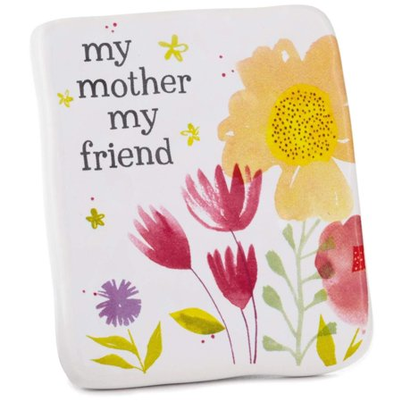 - My Mother My Friend Ceramic Quote Block, 2.5x3 Plaques & Signs Family