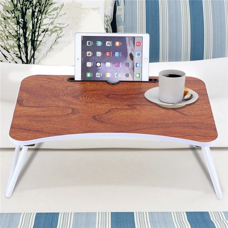 Portable Laptop Bed Table Standing Desk Multi Purpose Folding Sofa Breakfast Tray Notebook Stand